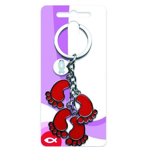Sleutelhanger- Voetstappen op giftcard