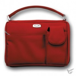 Biblecover large microfiber red