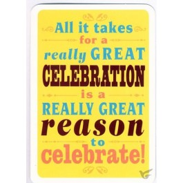 All it takes for a great celebration (Birthday - 6 pieces)