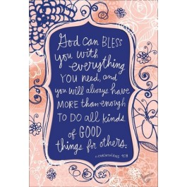 God can bless you with everything you need (Thank You - 6 pieces)
