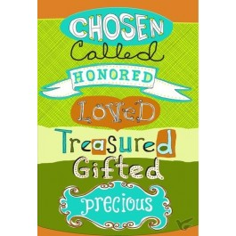 Chosen Called Honored Loved (Encouragement - 6 pieces)