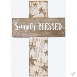 Mini wall cross simpley blessed