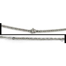 Stainless steel anchor style chain 50cm