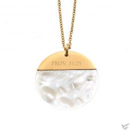 Proverbs 31:25 - Mother of pearl shell