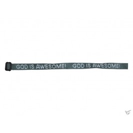 God is Awesome - Forest green