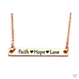 Necklace faith hope love rosegold