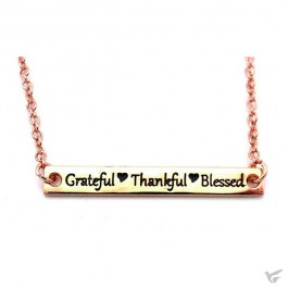 Necklace grateful rosegold