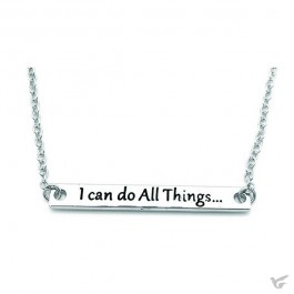 Necklace i can do all things silver