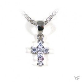 Necklace cross crystal