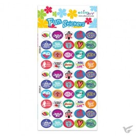 Fun stickers mixed icons set 4