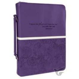 I know the plans - Purple - Biblecover Large