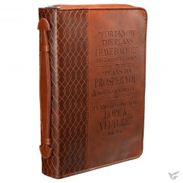 For I know the plans, Biblecover Medium LuxLeather - 250 x 175 x 43 mm