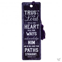 Trust in the Lord with all your heart - PVC Bookmark - 51 x 155 mm