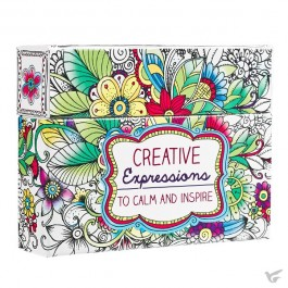 Creative Expressions to calm and inspire - Boxed Coloring Cards for adults