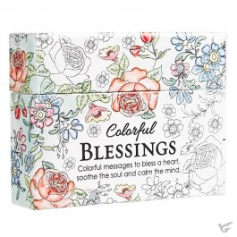 Colorful blessings - Boxed Coloring Cards for adults