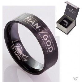 Man of God - Black - Size 12 (22 mm)