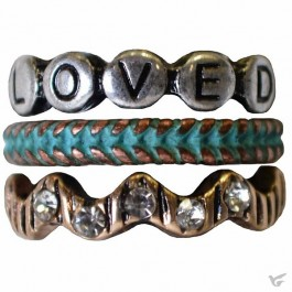 Loved - Set of 3 rings - Size 8
