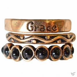 Grace - Set of 3 rings - Size 8