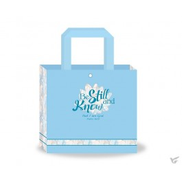 Laminated totebag be still and know