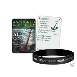 Silicone bracelet anchored in Christ