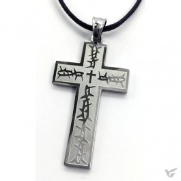 Necklace cross thorns