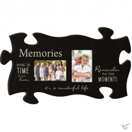 Memories - with 2 photo frames - Puzzle Piece