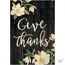 Give thanks :   Mini sign - 16,5 x 11,5 cm, 656200905579