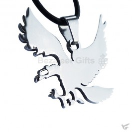 Pewter necklace eagle