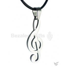 Pewter necklace g-cleff
