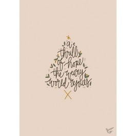 Poster kerst a thrill of hope