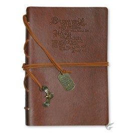 But those who hope in the Lord - Brown :   Journal - Faux Leather, 759830228770