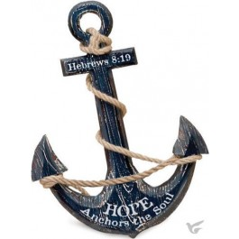 Hope anchors the soul (Nautical wall decor) 32 x 48 cm