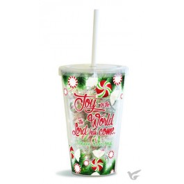 Joy to the World - Filled straw cup