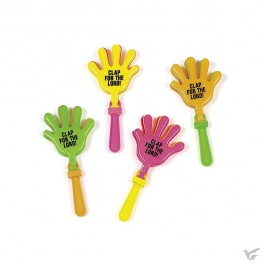 Plastic clappers clap for the Lord set6