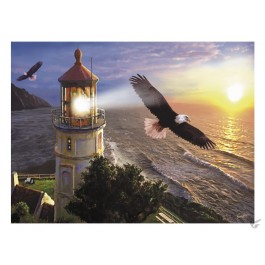Lighthouse with eagles - Puzzle 1000 pieces