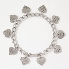 Love is ... (Silver colored bracelet)
