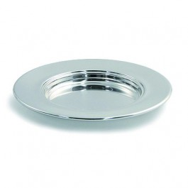 Polished Aluminum Non-Stacking Bread Plate (Abendmahlbrotteller) Bread Plate, 10'' Diameter - Polished Aluminum (Communion Ware 505)