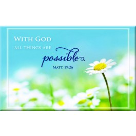 With God all things are possible - Magnet 80 x 50 mm