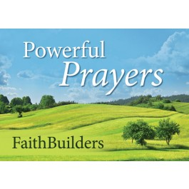 Powerful Prayers - Faith Builders 5x4 cards, 80 x 50 mm