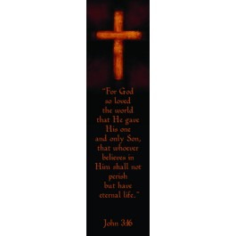 For God so loved the world (10 Bookmarks) - 148x40mm
