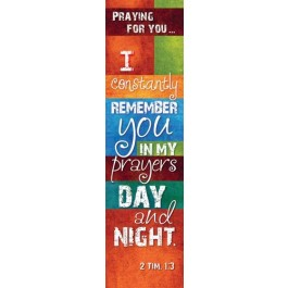 Praying for you (10 Bookmarks) - 148x40mm