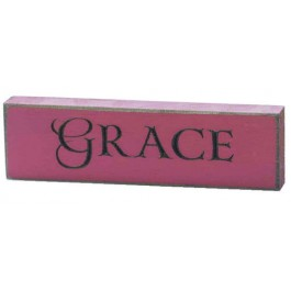 Grace - Engraved Wall Sign - 15 x 4,5 cm
