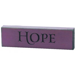 Hope - Engraved Wall Sign - 15 x 4,5 cm
