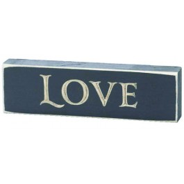 Love - Engraved Wall Sign - 15 x 4,5 cm