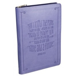 For I know the plans, LuxLeather Journal 14,5 x 21 cm Zipper closure