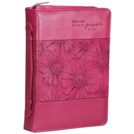 With God all things are possible, Biblecover Medium LuxLeather - 225 x 165 x 44 mm
