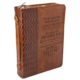 For I know the plans, Biblecover Large LuxLeather - 241 x 171 x 57 mm