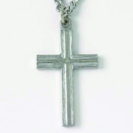 Cross - Raised (Pewter necklace)