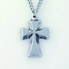 Cross - Beveled (Pewter necklace)