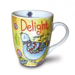 Delight yourself in the Lord - Ceramic Curvy Mug - 350 ml